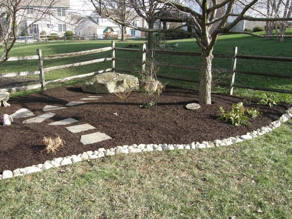 Stone Installation with Mulch Masters Ex 3