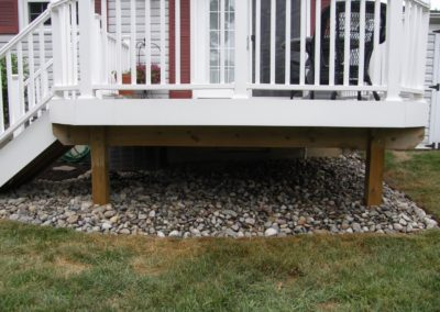 Stone Installation with Mulch Masters Ex 7